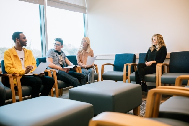 Group therapy room at Dallas treatment center
