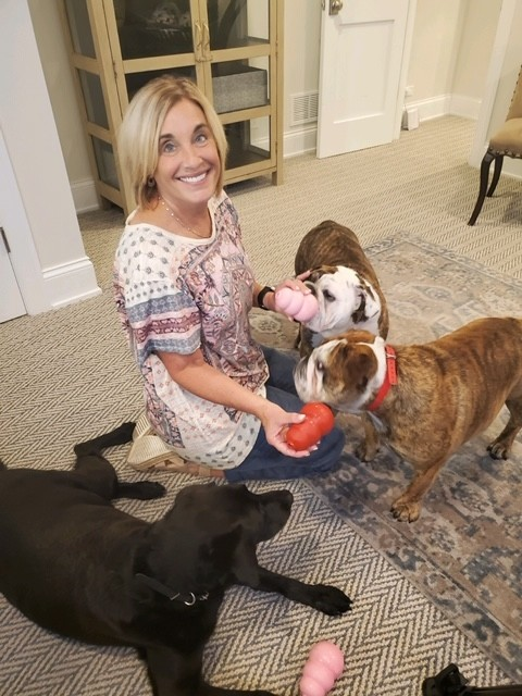 Dr. Susan McClanahan with her dogs